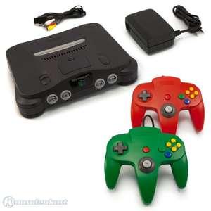 Konsole + 2 Original Controller #rot #grün + Zubehör