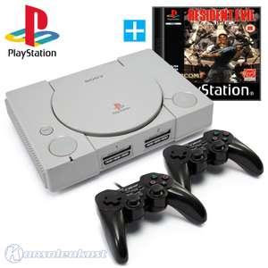 Konsole + Resident Evil + 2 Controller + Zubehör