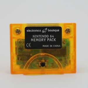 Memory Card / Memorycard / Speicherkarte / Controller Pak 1 MB #orange [Dritthersteller]