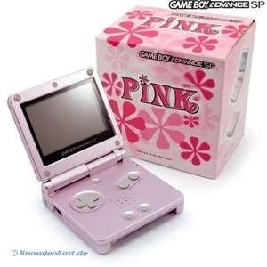 Konsole GBA SP #pink + Netzteil
