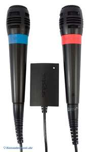 Original SingStar Mikrofon / Microphone Doppelpack mit USB Adapter [Sony]