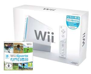 Konsole #weiß Sports Pak + Wii Sports + Original Remote + Zubehör