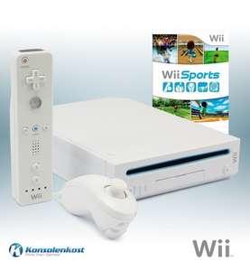 Konsole #weiß + Wii Sports + Original Remote + Zubehör