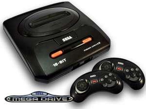 Konsole MD2 + 2 Original 6-Button Controller + Zubehör