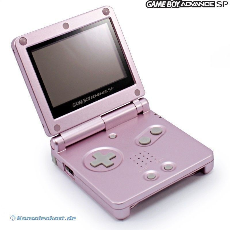 Konsole GBA SP AGS-101 #rosa / pink + Netzteil