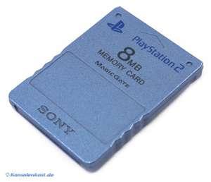 Original Sony Memory Card / Memorycard / Speicherkarte 8 MB #metallic-blau