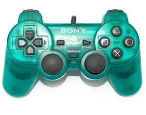 Original Sony Dualshock 2 Controller / Pad SCPH-10010 #grün-transp.