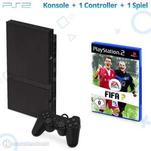 Konsole Slim #schwarz + Gratisspiel + Controller + Zubehör