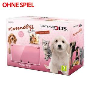 Konsole #Coral Pink Nintendogs Edition + Netzteil