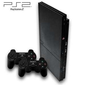 Konsole Slim #schwarz + 2 Original DualShock Controller + Zubehör