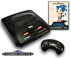 Konsole MD2 + Sonic 1 + Original Controller + Zubehör