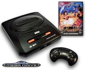 Konsole MD2 + Aladdin + Original Controller + Zubehör