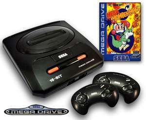 Konsole MD2 + Bomberman + 2 Original Controller + Zubehör