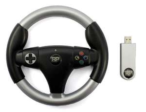 Controller / Pad #schwarz RP Racing Wheel / Lenkrad mit Adapter [Realplay]