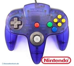 Original Nintendo Controller #violett-transp. / Ocean Blue NUS-005