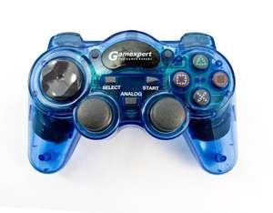 Controller / Pad #blau-transp. [Gamexpert]