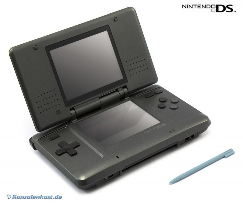 Nintendo DS - Konsole #schwarz/anthrazit + Netzteil