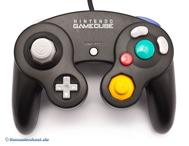 GameCube - Original Nintendo Controller / Pad #schwarz DOL-003