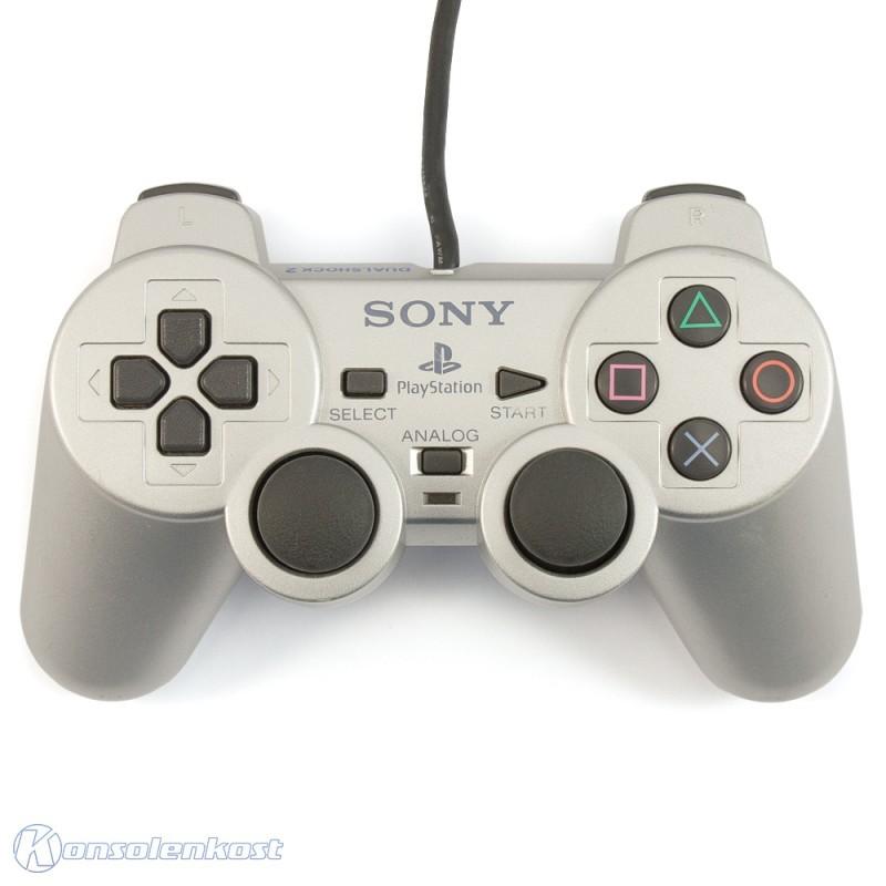 Original Sony Dualshock 2 Controller / Pad SCPH-10010 #silber
