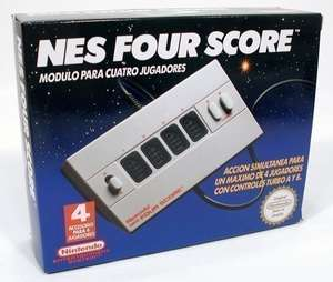 Original Nintendo Four Score / 4 Spieler Adapter / FPA-PAL-S01 9112 B