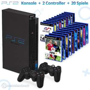 MegaSet: Konsole + 20 Spiele + 2 Original Controller + Zubehör #schwarz