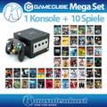 MegaSet: Konsole + 10 Spiele + Controller + Zubehör #schwarz