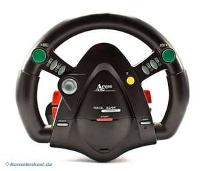 Lenkrad / Racing / Steering Wheel Race Compact mit Pedalen