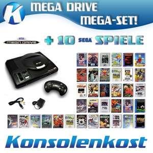MegaSet: Konsole MD1 + 10 Spiele + Original Controller