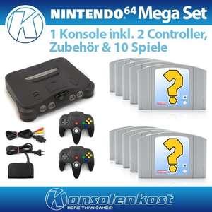 Konsole + 10 Spiele + 2 Controller + Zubehör