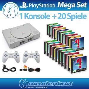 MegaSet: Konsole + 20 Spiele + 2 Controller + Zubehör