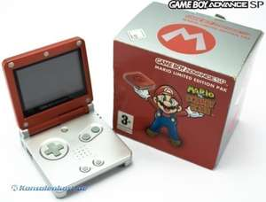Konsole GBA SP #Mario vs Donkey Kong Edition + Netzteil