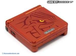 Konsole GBA SP #Pokemon Groudon Edition + Netzteil