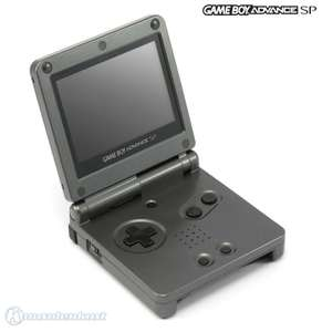 Konsole GBA SP AGS-101 #Onyx Black / Anthrazit + Netzteil