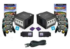 Mario Kart 8 Spieler Bundle - 2 Konsolen + 8 Controller + 2 LAN Adapter + Zubehör
