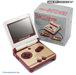 Konsole GBA SP #Famicom 20th Anniversary Edition + Netzteil
