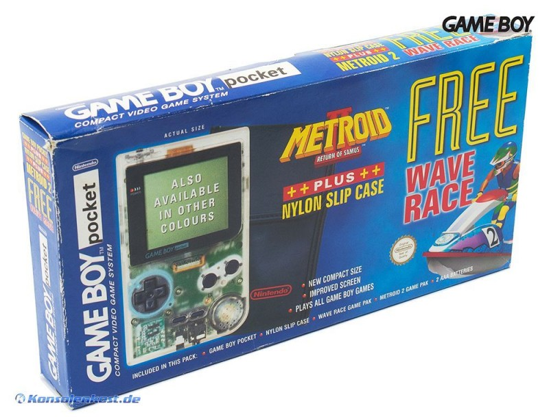 Konsole #clear Metroid 2 / Wave Race-Edition