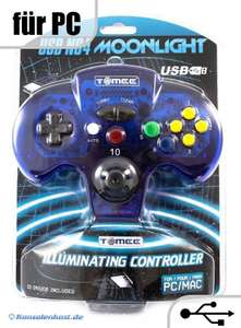 N64 USB Moonlight Controller / Pad #blau-transparent [Tomee]