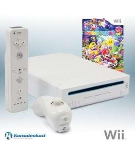 Konsole #weiß + Mario Party 9 + Remote + Zubehör