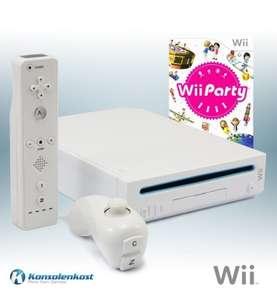 Konsole #weiß + Wii Party + Remote + Zubehör