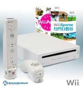 Konsole #weiß + Wii Sports + Wii Party + Remote + Zubehör