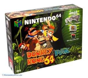 Konsole #Donkey Kong Pak + Spiel + Original Controller + Exp. Pak + Zubehör