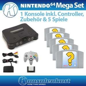 Konsole + 5 Spiele + Controller + Zubehör