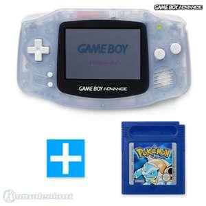 Konsole #transparent blau / clear blue + POKEMON BLAU Spiel