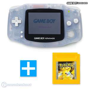Konsole #transparent blau / clear blue + POKEMON GELB Spiel