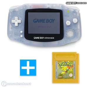 Konsole #transparent blau / clear blue + POKEMON GOLD Spiel