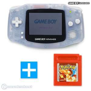Konsole #transparent blau / clear blue + POKEMON ROT Spiel