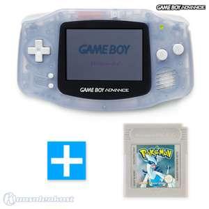 Konsole #transparent blau / clear blue + POKEMON SILBER Spiel