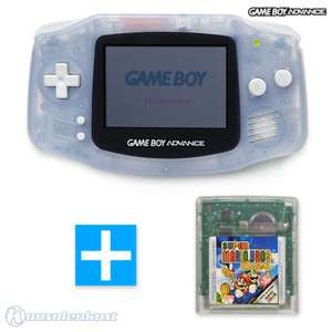 Konsole #transparent blau / clear blue + SUPER MARIO BROS. Deluxe Spiel