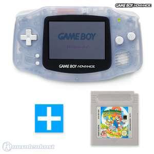 Konsole #transparent blau / clear blue + SUPER MARIO LAND 2 Spiel