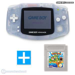 Konsole #transparent blau / clear blue + WARIO LAND Spiel